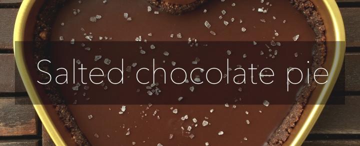 Salted chocolate pie