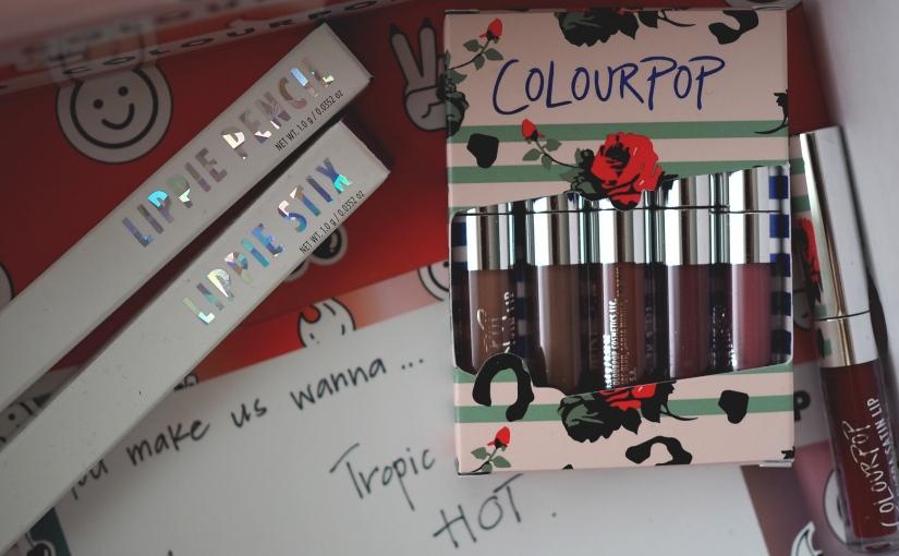 Huge colourpop lippie haul +reviews